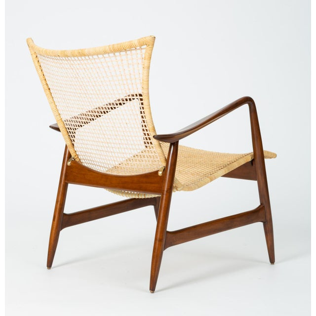 Lounge Chair With Cane Seat by Ib Kofod-Larsen for Selig For Sale In Los Angeles - Image 6 of 13