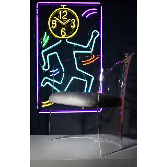 1960s Mid-Century Modern Vladimir Kagan Lucite Barrel Chair For Sale - Image 11 of 13