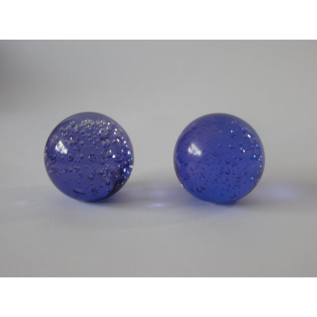 Pair Controlled Bubble Glass Paperweight - Image 3 of 8