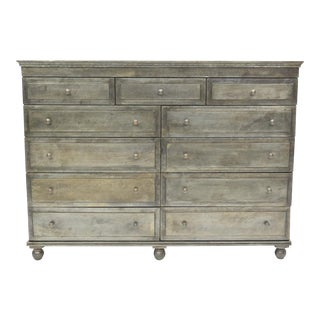 Industrial Restoration Hardware Annecy Metal Dresser For Sale