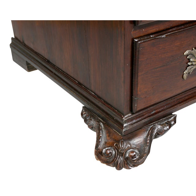 Portuguese Colonial Brazilian Solid Rosewood Slant Lid Writing Desk For Sale - Image 9 of 13