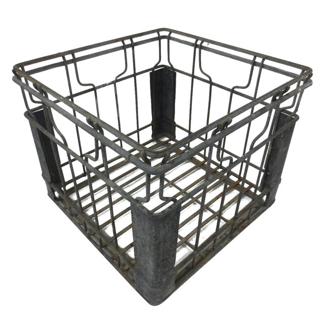 Industrial Square Metal Crate - Image 1 of 5