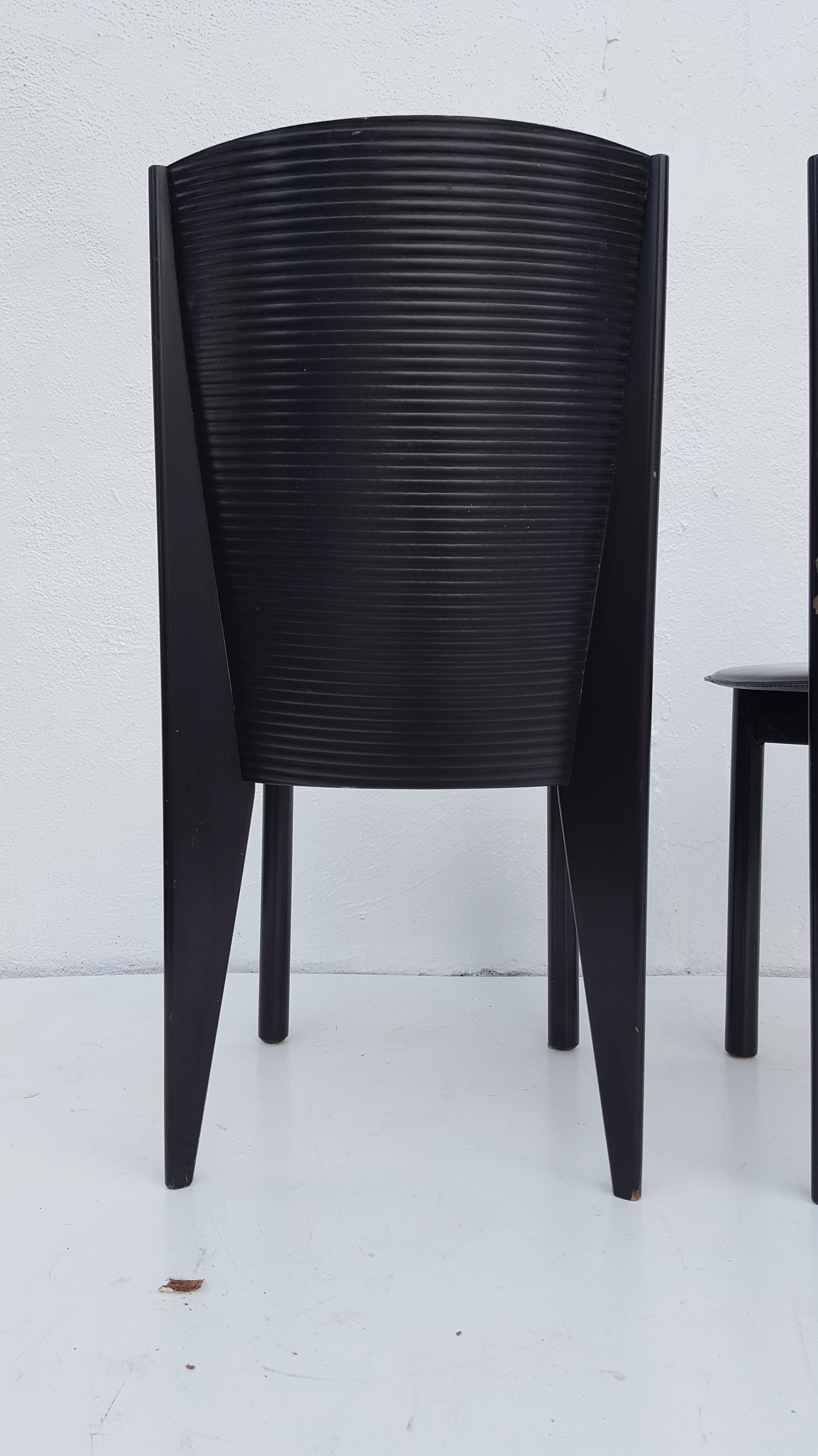 Italian Set Of Four Dining Chairs By Calligaris For Sale In Miami   Image 6  Of