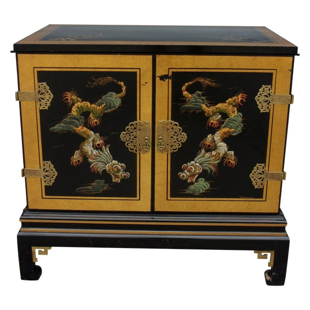 Vintage Asian Style Cabinet With Brass Hardware - Image 1 of 11