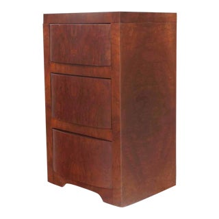 Vintage Mid Century Three-Drawer Art Deco End Table For Sale