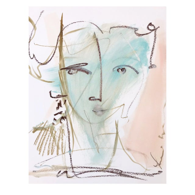 Abstract Textured Earring by Leslie Weaver For Sale - Image 3 of 3