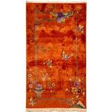 Image of Early 20th Century Vintage Chinese Art Deco Wool Rug For Sale