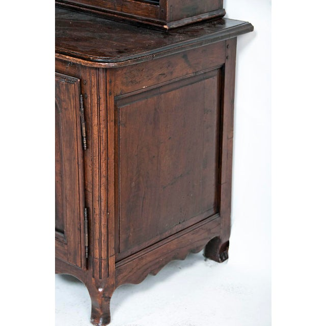 Brown Late 19th Century Large French Three Part Oak Cabinet For Sale - Image 8 of 8