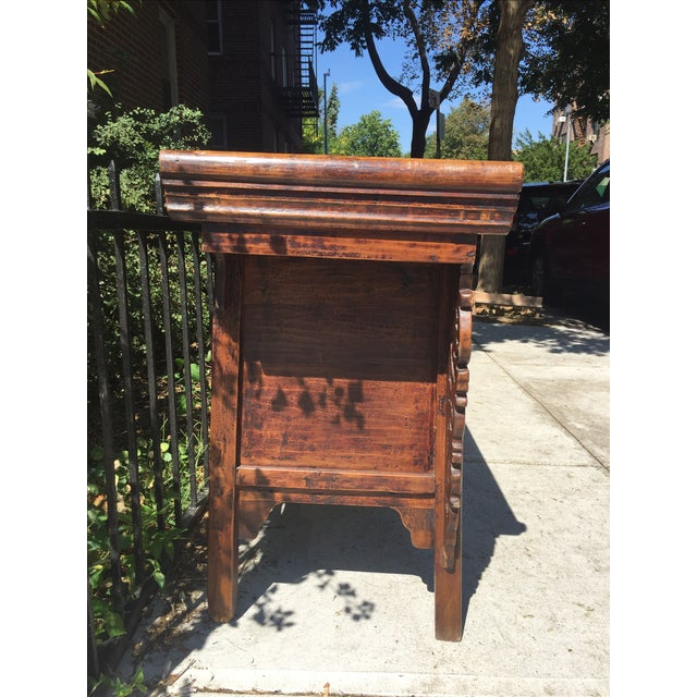 Antique Carved Wood Console - Image 4 of 10