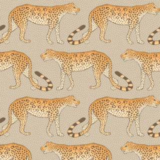 Leopard Walk Classic Style Wallpaper - 11 Yards For Sale