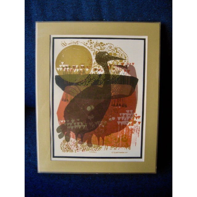 1971 Mid-Century Modern Print From David Weidman Cranes For Sale - Image 6 of 6