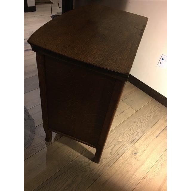 Vintage Oak Cabinet Credenza - Image 9 of 10