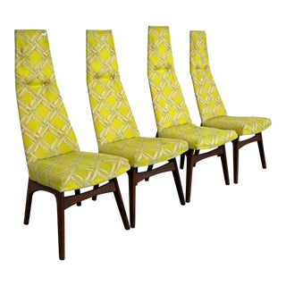 Set of 4 Mid-Century Danish Modern Adrian Pearsall High Back Dining Chairs For Sale