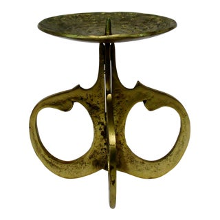 Brass Pillar Candle Holder