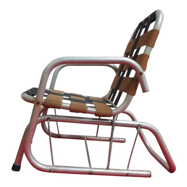 Vintage Mid Century Child's Aluminum Glider Porch Patio Chair - Image 1 of 7