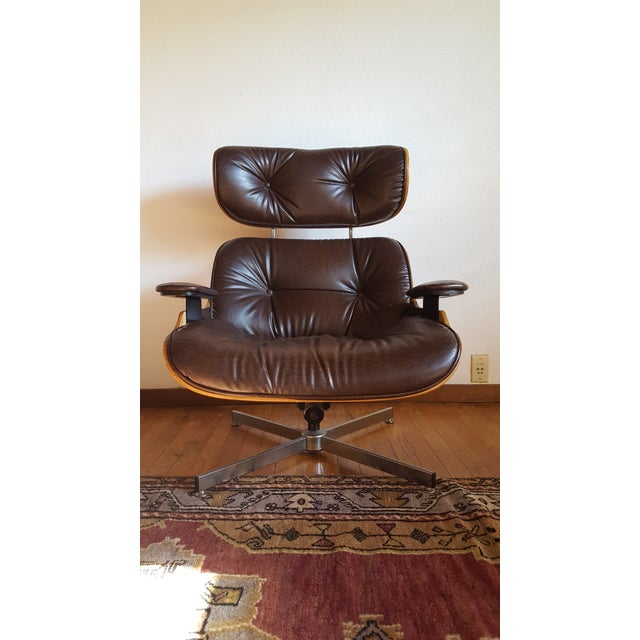 1970s Vintage Eames Style Chocolate Selig Plycraft Lounge Chair For Sale - Image 5 of 11