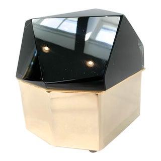 21st Century Italian Murano Black Jewelry Box by Mandruzzato For Sale
