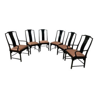 Chinoiserie Dining Chairs by Raymond Sobota for Century Furniture — Set of 6 For Sale
