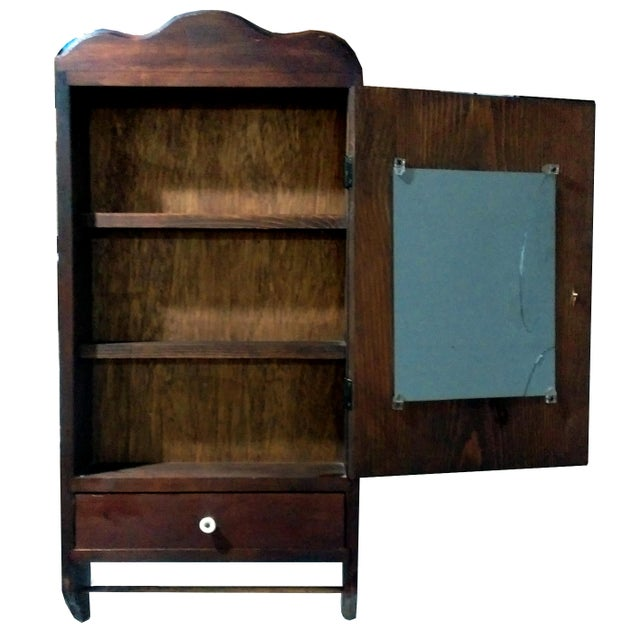 "Antique ""Fair Lady"" Mirrored Medicine Cabinet - Image 2 of 8"