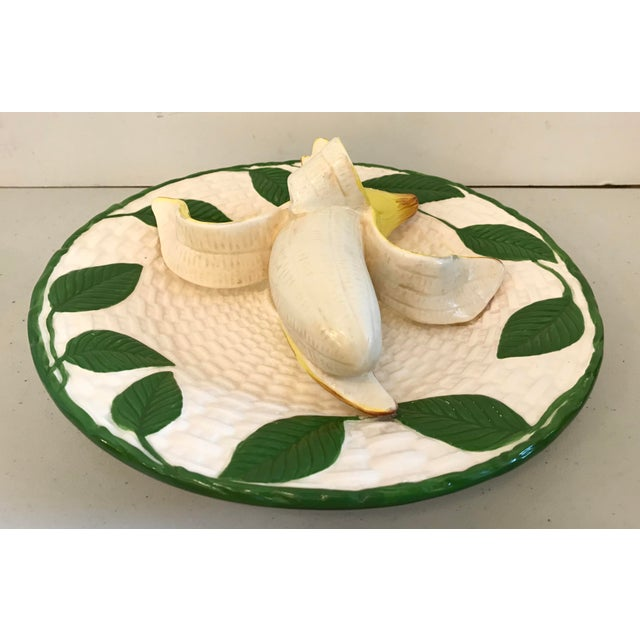 Late 20th Century Vintage Trompe L'Oeil Banana Plate For Sale - Image 5 of 8