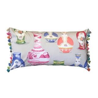 Jumbo Meissen Lumbar Pillow For Sale