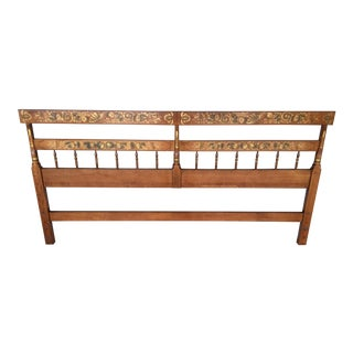 L. Hitchcock Maple Harvest King Size Headboard For Sale