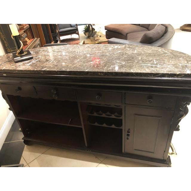 Brown American Victorian Style Stained Wood Bar For Sale - Image 8 of 12