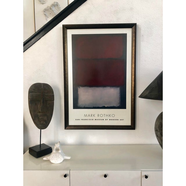Classic Rothko Poster Print from the San Francisco Museum of Modern Art. Non Glare gallery glass. Wood frame.