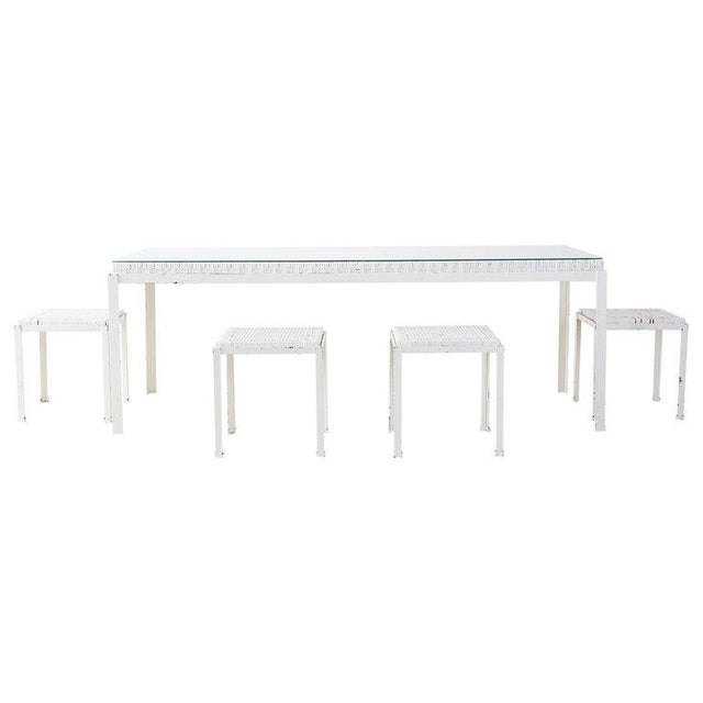 Danny Ho Fong California Modern Woven Cane Dining Table Set For Sale - Image 13 of 13