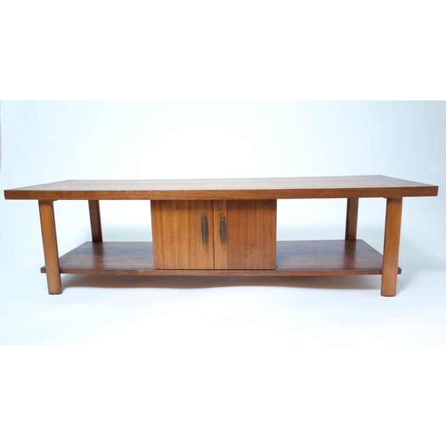 Lane Coffee Table with Sliding Door - Image 2 of 7