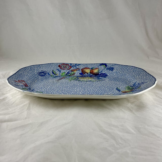 Spode 1920s Copeland Spode George III Pattern Platter for Harrods of London For Sale - Image 4 of 13