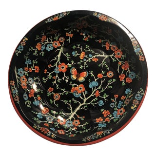 England 1971 Daher Asian Themed Metal Tray Dish For Sale