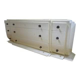 Andre Arbus Early Documented Cream Lacquered Cream Chest of Drawers For Sale