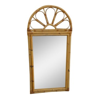 Island Style Rattan Sunburst Mirror For Sale