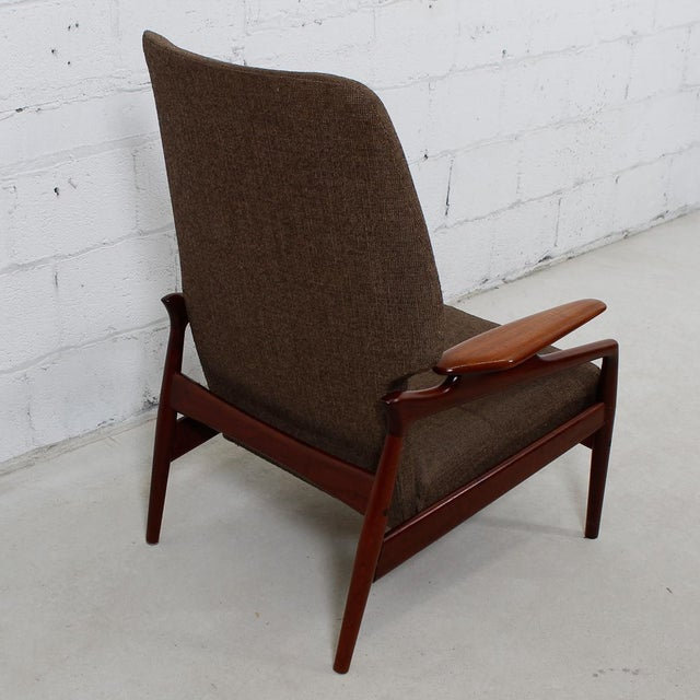 Brown Finn Juhl Reclining Wingback Chair For Sale - Image 8 of 10