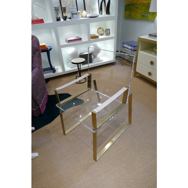 Century Lucite & Brass Halo Chair For Sale - Image 12 of 12