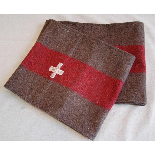 Custom Tailored Swiss Wool Blanket Table Runner For Sale - Image 5 of 6