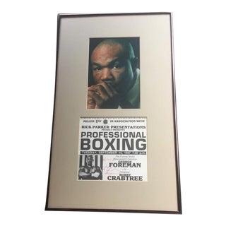 George Foreman Photograph & Autograph For Sale