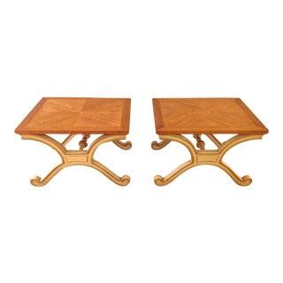 Heritage Hollywood Regency Side Tables - Pair 2 For Sale
