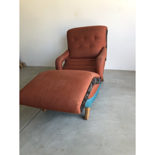 1950s 1950's Contour Recliner Lounge Chair For Sale - Image 5 of 8