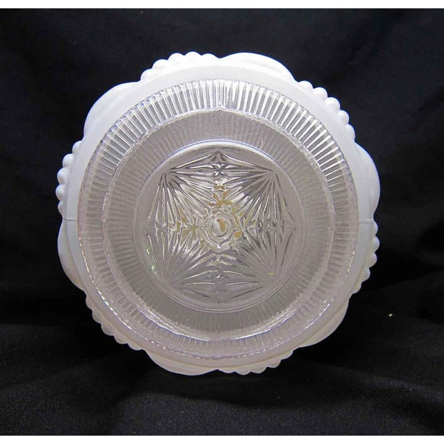 White Milk Glass Wedding Cake Flush Mount Fixtures For Sale - Image 5 of 7