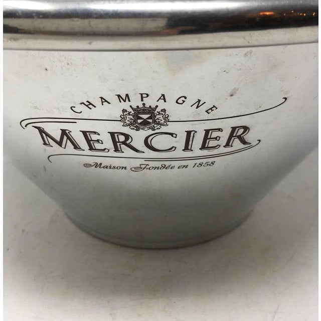 French Mercier multiple bottle champagne cooler. The cooler is marked on the bottom and can accommodate 4-6 champagne...