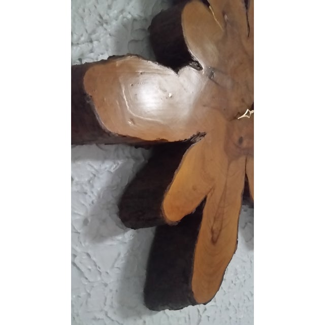 1980s Minimalist Live Edge Wall Clock For Sale - Image 4 of 7