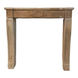 Louis XIV Antique Limestone Mantel, circa 1800 For Sale