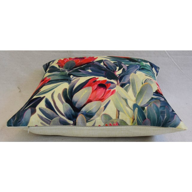 "18"" Colorful Tropical Protea Floral Feather/Down Pillows - a Pair - Image 11 of 11"