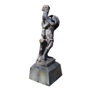18th Or 19th Century French Lead Figure of A Bacchante For Sale