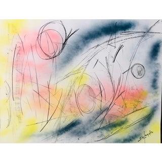 Abstract Nantucket Original by Erik Sulander on Paperboard 28x22 For Sale