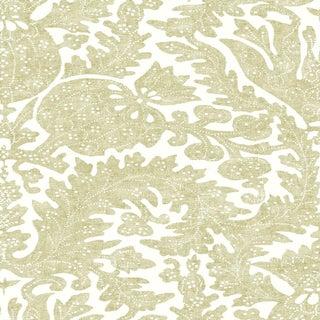 "Lewis & Wood Pomegranate Fresco Chicory Extra Wide 52"" Botanic Style Wallpaper - 1 Yard For Sale"