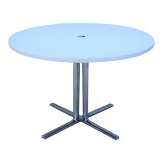 Herman Miller Modern Everywhere Round White Dining Table For Sale
