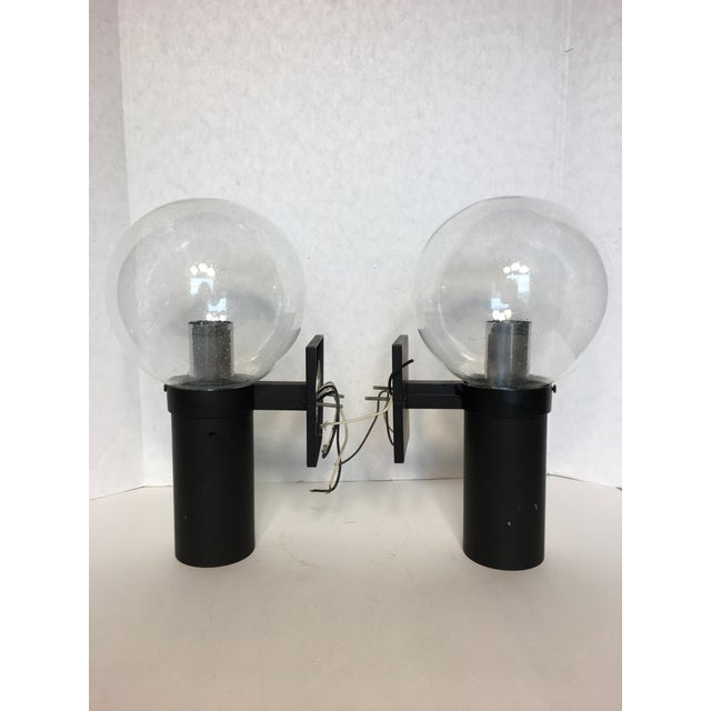 Vintage Lightolier Seed Glass Globe Double Sconces - A Pair - Image 4 of 11